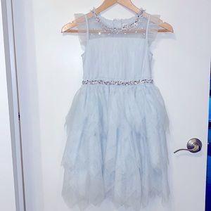 H&M Girls 7-8Y Occasion Dress light blue NWOT